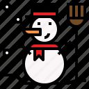 celebration, christmas, snow, snowman icon