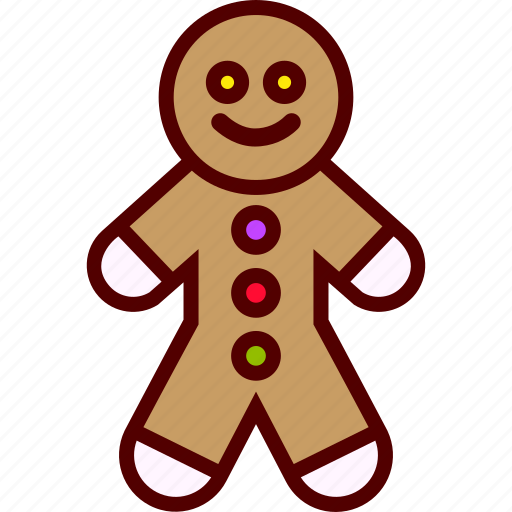 cookie, food, ginger, man icon