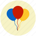 balloon, birthday, christmas, decoration, holiday, ornament, party icon