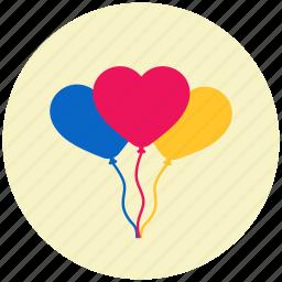 balloon, christmas, decoration, ornament, party, valentine, wedding icon