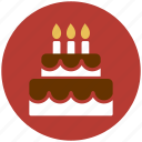 birthday, cake, candle, celebration, flame, wedding cake icon