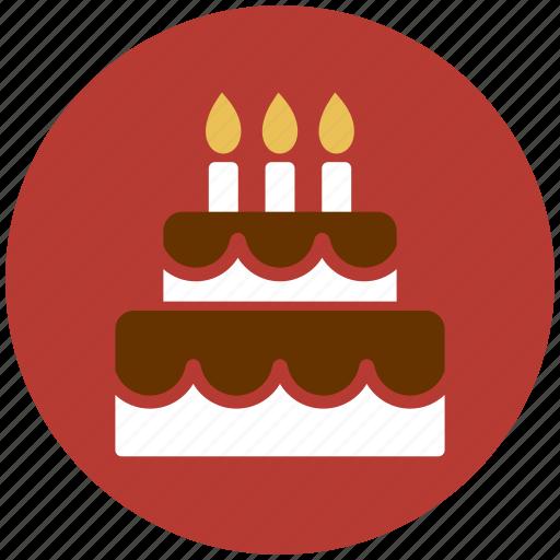birthday, cake, candle, celebration, flame, wedding cake icon