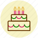 cake, candle, birthday cake, celebration, flame, wedding cake icon
