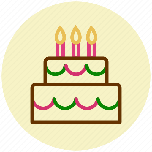birthday cake, cake, candle, celebration, flame, wedding cake icon