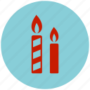 candle, celebration, decoration, flame icon