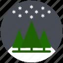 christmas, cold, pine, sky, snowflake, winter