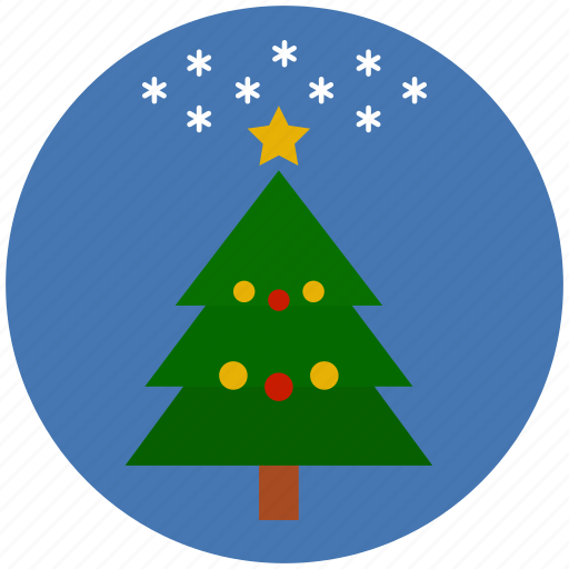 christmas, christmas tree, decoration, pine, snowflake, winter, xmas icon