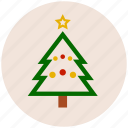 christmas, christmas tree, decoration, pine, xmas icon