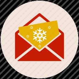 card, christmas, christmas card, gift, present icon