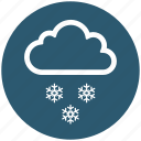 cloud, cold, snow, snowflake, weather, winter icon