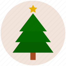 christmas, christmas tree, pine, star, tree, xmas icon