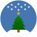 christmas, pine, sky, snowflake, star, winter, xmas icon