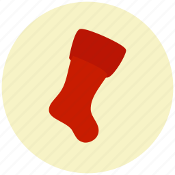 christmas, gift, present, sock, xmas icon
