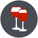 alcohol, christmas, glass, party, wine, wine glasses icon