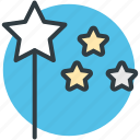 fairy wand, magic wand, magical stick, magical wand, wizard wand icon