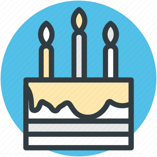 birthday cake, cake, cake with candles, celebration, christmas cake icon