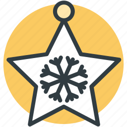 christmas decoration, christmas ornaments, decoration star, star, star ornament icon