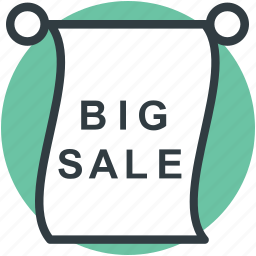 big sale, grand sale, sale advertisement, sale notice, sale offer icon