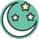 christmas night, moon, night, sky, star icon