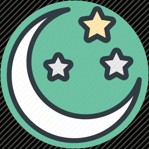 christmas night, moon, night, sky, star icon