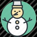 christmas, christmas snowman, snowman, snowperson, winter icon