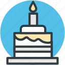 birthday cake, cake, cake with candle, celebration, christmas cake icon