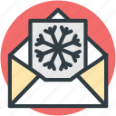 christmas card, christmas greeting, greeting card, snowflake, wishing card icon