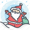 christmas, holiday, holidays, santa, santa hat, winter, xmas icon