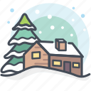 christmas, holidays, house, snow, winter, winter house icon