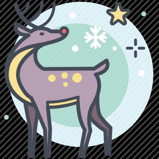 christmas, deer, holidays, reindeer, winter icon