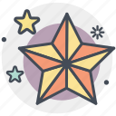 christmas, christmas star, holiday, star, winter, xmas icon
