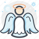 angel, celebration, christmas, decoration, snow, winter, xmas icon
