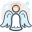 angel, celebration, christmas, decoration, snow, winter, xmas icon