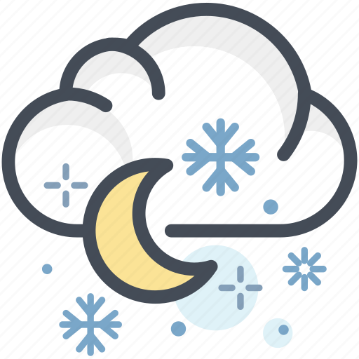 christmas, clouds, cold, flakes, sky, snow, winter icon