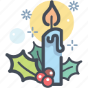 candle, celebration, christmas, decoration, holiday, winter, xmas icon