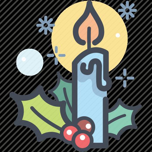 candle, celebration, christmas, decoration, holiday, winter, xmas icon