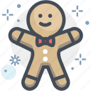 baking, christmas, gingerbread, gingerbread man, pastry, xmas icon