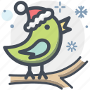 bird, canary, christmas, robin, xmas icon