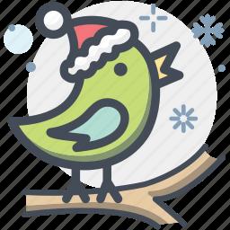 bird, canary, christmas, robin, xmas icon