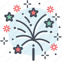 celebration, christmas, fireworks, new year, party icon