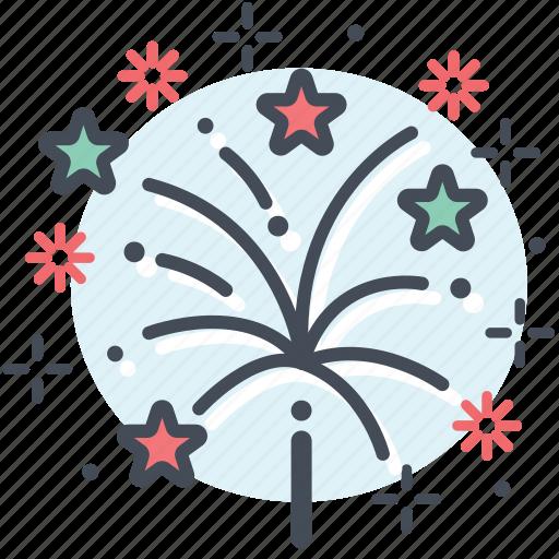 celebration, christmas, fireworks, new year, party icon