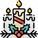 candle, christmas, decoration, light, ornament, three, winter icon