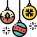balls, christmas, decoration, ornament, snowflake, winter, xmas
