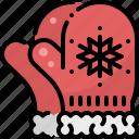 christmas, cloth, gloves, snowflake, wear, winter, xmas icon