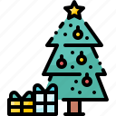 box, christmas, decoration, gift, pine, tree, winter