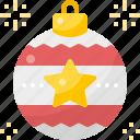 ball, celebration, christmas, decoration, ornament, star, winter
