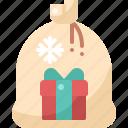 bag, box, christmas, gift, santa, shopping, winter