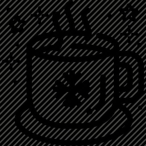 decorated mug, drink, gift, hot beverage, mug, snowflake icon