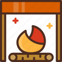 chimney, christmas, decoration, fire, fireplace, holiday, winter icon