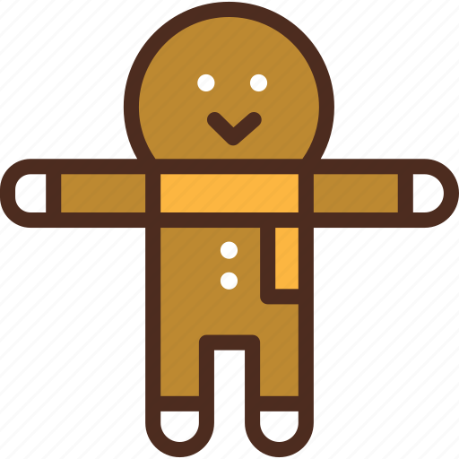 christmas, cookie, decoration, gingerbread, holiday, man, sweet icon